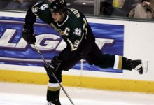 Captain Mike Modano Dallas Stars Game Action