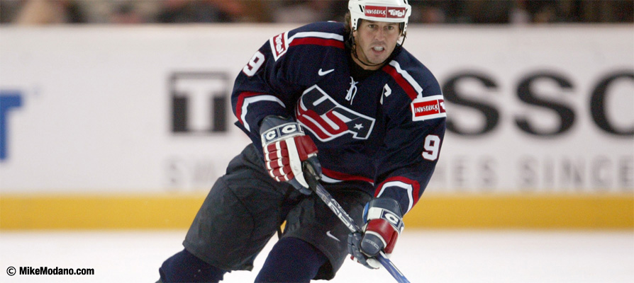 Mike Modano with Team USA